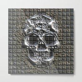MetalArt Skull Metal Print