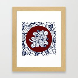 Navy Cashew Apple Framed Art Print