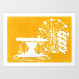 Seaside Fair in Yellow Art Print