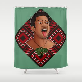 New Zealand Maori Haka Dancer Shower Curtain