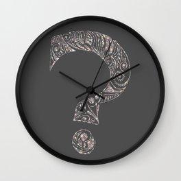 Scratchboard Ambivalence Wall Clock