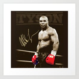 Mike Tyson 2 poster Art Print