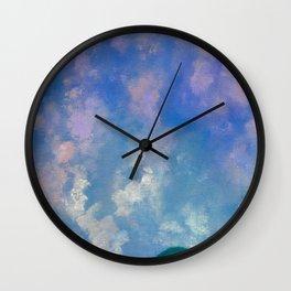 Cottonball Clouds Wall Clock