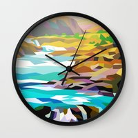 river Wall Clocks featuring River by Liam Brazier