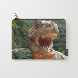 T Rex in Prehistoric Landscape Carry-All Pouch