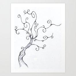Burton Tree Art Print