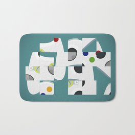 Gamer's slider puzzle gamepad Bath Mat