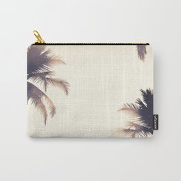 Cream Dream Palm Trees Carry-All Pouch