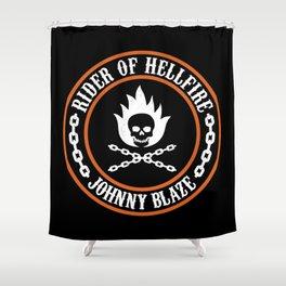 Rider of Hellfire Shower Curtain