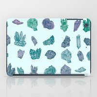 minerals iPad Cases featuring Mystical Minerals by Hannah Margaret Illustrations