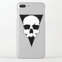 Geometric skull Clear iPhone Case