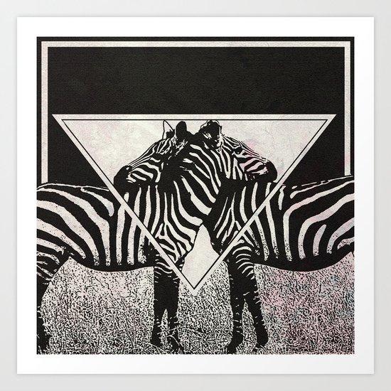 Zebra2 Art Print