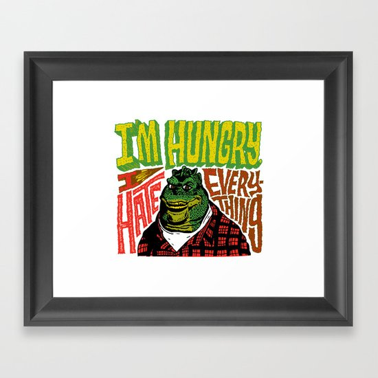 Hungry Earl Framed Art Print