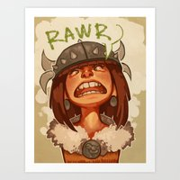 viking Art Prints featuring Viking by DustyLeaves