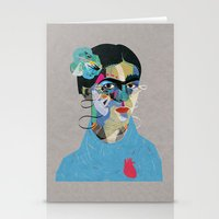 frida Stationery Cards featuring Frida by Zaneta Antosik