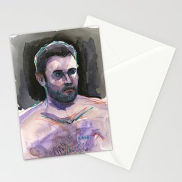 LOVE, Semi-Nude Male by Frank-Joseph Stationery Cards