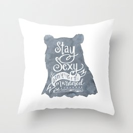 SSDGM Bear Throw Pillow