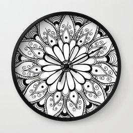 Daisy mandala Wall Clock