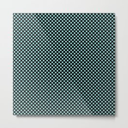 Black and Limpet Shell Polka Dots Metal Print