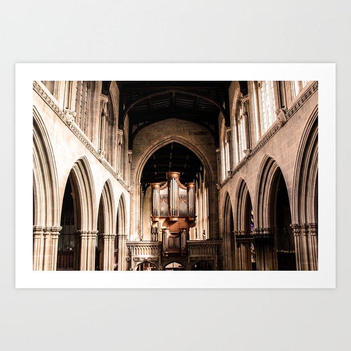 Orange Oxford ArtWork Art Print