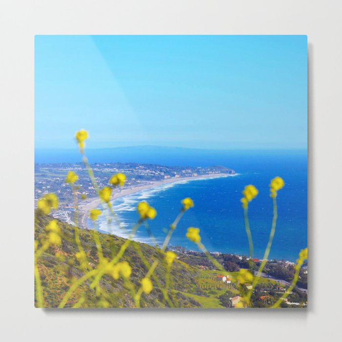 Malibu Flowers Metal Print