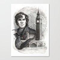 sherlock Canvas Prints featuring Sherlock  by RileyStark