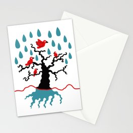 Birds in the trees Stationery Cards