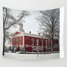 Side View of the Iron County Courthouse Wall Tapestry