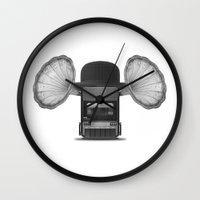 hat Wall Clocks featuring Hat by Bajibaj