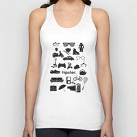 hipster Tank Tops featuring hipster by tycejones