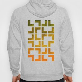 Geometric Pattern L Shaped Watercolor Painting Olive Green Yellow Ochre Colorful Pattern Art Hoody