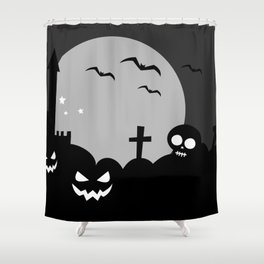 Spooky Background Shower Curtain