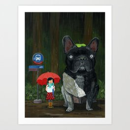 """My French Bull Chubu""  Art Print"