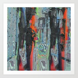 intentionally distorted in all too familiar matter Art Print