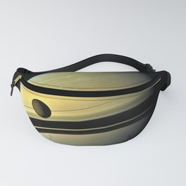 Saturn and its Moon Titan in Orbit Telescopic Photograph Fanny Pack