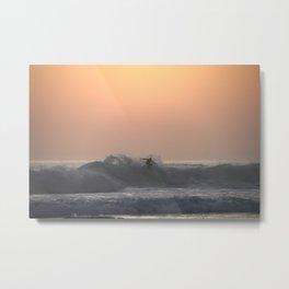 Lone Surfer Metal Print