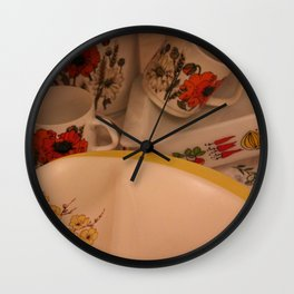 Yellow Vintage Bloom Wall Clock