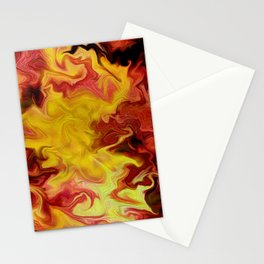 Wall of fire  Stationery Cards