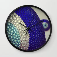 evil eye Wall Clocks featuring Evil Eye by Layal Chemaitelly