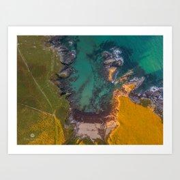 Aerial - South Devon - Coast Line - Soar Mill Cove Art Print