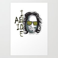 The Dude - Big Lebowski INK Art Print