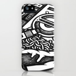 Mandala Doppia H Detail iPhone Case