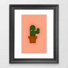 Cactus Plant Framed Art Print