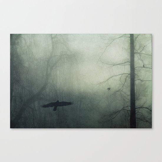 world wrapped in mist Canvas Print