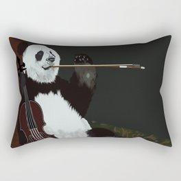 panda violinist Rectangular Pillow