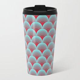 Japanese waves pattern Travel Mug