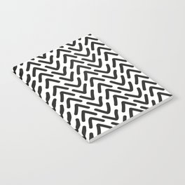 chevron black on white Notebook