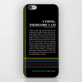 Philosophia II: I think, therefore I am iPhone Skin