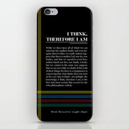 Philosophia II: I think, therefore I am iPhone Skin