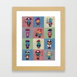 Buccaneers Monstris Framed Art Print